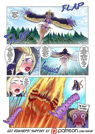 Monster Harem Feverish Absolute Passion! Ch. 1-3