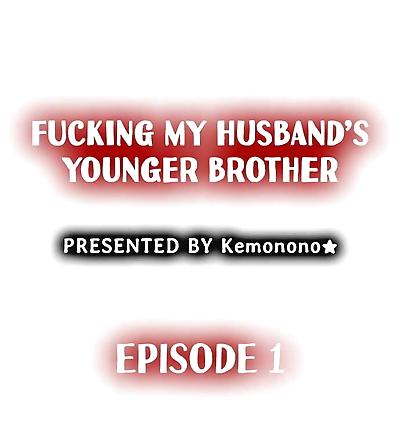 Kemonono★ Fucking My Husband's Younger Brother Ch.1-4 English