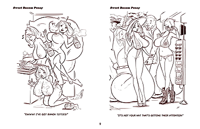 ZaftigBunnyPress Sweet Buxom Penny Cartoons